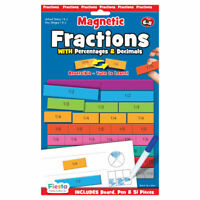 Fractions Magnetic Chart - Magnetic Set - Fun daily educational activity