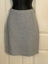 St. John- Knit Skirt- Light Blue w/Black- Pencil- Above Knee-length- Sz 2