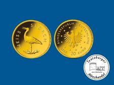 Deutschland 20 Euro 2020 Weißstorch * Prägestätte F * 1/8 oz 999 Gold ST