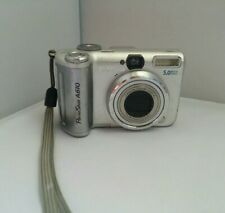 Canon PowerShot A610 5.0MP Digital Silver Camera Tested Working With Issues READ