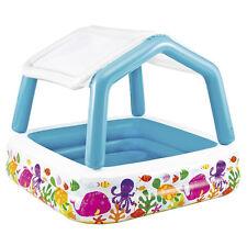 Piscina Bebé Parasol Toldo Hinchable Sombra Protección Sol UV Sombrilla Bebés