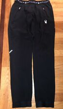 Ladies Women's Black Spyder Base Layer Polyester Running Pants Size Adult Small