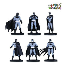"Batman Black and White 3.75"" Mini Figures Series 1 Blind Bag Complete Set of 6"