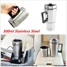 Portable 12V Stainless Steel Car Coffee Maker Tea Pot Thermos Heating Bottle Cup