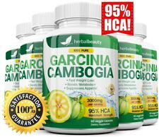 5 Pack GARCINIA CAMBOGIA 95% HCA Diet Pills Weight Loss Fat Burner 3000mg