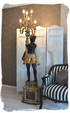 Lámpara de estilo barroco lámpara gigante escultura masculina de izquierda sirve