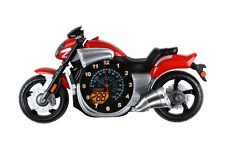 """Red Bike Motorcycle Wall Clock Children's Home Decor 23"""" x 12"""""""