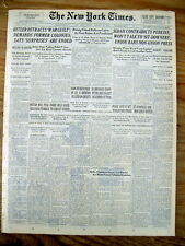 1937 NY Times newspaper ADOLPH HITLER SPEECH with his LATEST DEMANDS on EUROPE