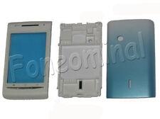 Para Sony Ericsson Xperia X8 E15i Fascia Carcasa Tapa Trasera Azul Claro del Reino Unido