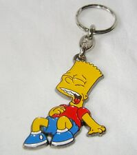NEW QUALITY METAL THE SIMPSONS SHAPED KEYRING BART SITTING LAUGHING