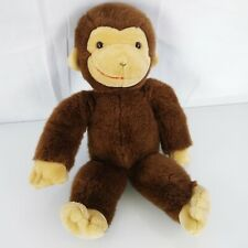 "Gund Stuffed Plush 16"" Brown Curious George Monkey Vintage"