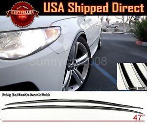 1 Pair Flexible Slim Fender Flare Lip Extension Black Protector For Honda Acura