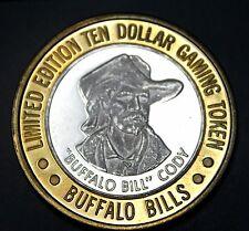 10$ LIMITED EDITION GAMING TOKEN BUFFALO BILLS CASINO.999 SILVER / BRASS 37.1 GR