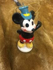 1970's Disneyland Mickey Mouse Japan ceramic Steamboat Christmas Ornament  3""