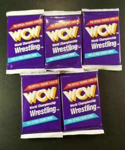 FIVE 1991 WCW WAX PACKS Impel STING AUTO CHASE Doom STING ROOKIE Ric Flair LEX
