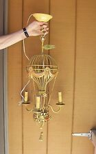 Vintage French Italian Tole Metal Hot Air Balloon Chandelier 3 Lite - Will Ship