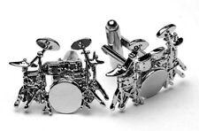 Drum Kit Cufflinks - Music Gift - Gift for Drummer - Musical Novelty Cufflinks