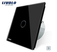 EDEL Touchscreen Dimmer LED Livolo Schwarz Kristall Glas VL-C701D-12
