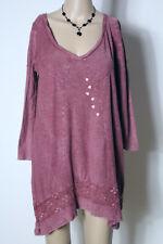 REVIEW Tunika Gr. XS/34-36 beeren-rot/lila Batik A-Linie Zipfel Shirt Tunika