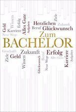 Tarjeta de felicitación ACUÑADO Alta Calidad felicitación para Bachelor oro
