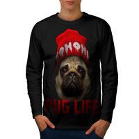 Cool Pug Thug Life Men Long Sleeve T-shirt NEW | Wellcoda