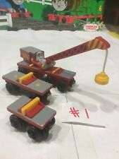 ROCKY AND TENDERS~Thomas The Train & Friends Wooden Railway Cars And Crane 2003