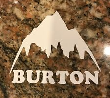 Burton Snowboard Sticker - Skiing Snowboarding Mountain Sports