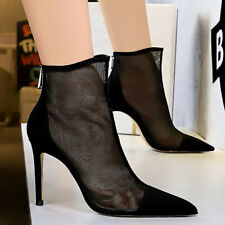 Women's Gladiator Summer Boots Pointed Toe Stiletto Heel Party Club Pumps Shoes