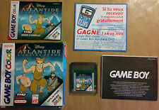 ATLANTIDE : L'EMPIRE PERDU pour Nintendo Gameboy Color DISNEY Atlantis