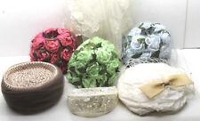 5 pc plus Vintage Wedding Hats Headware Veil Sash etc 3 Flower+Maid+Bride Bridal