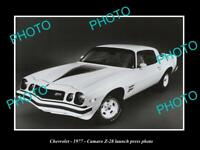 OLD POSTCARD SIZE PHOTO THE CHEVROLET CAMARO 1977 Z-28 LAUNCH PRESS PHOTO