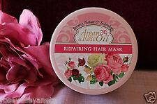 REPAIRING HAIR MASK  with Argan & Rose oil anti aging 350ml for revived hair