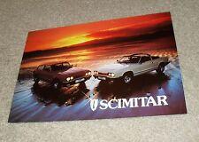 Reliant Scimitar GTC & GTE Brochure 1979-1980 UK Market