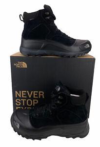 NEW The North Face Snowfuse Waterproof Suede Boots Heatseeker Black Mens Size 14