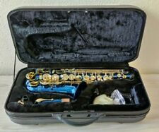 More details for tenor saxophone chase sax in bb in blue lacquer & hard case
