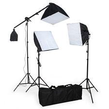 3x lampes softbox studio photo kit d'éclairage lumière pour flash + trépieds