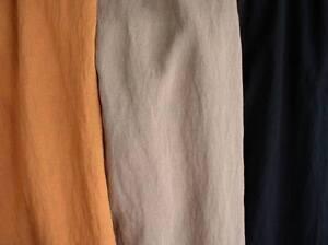 Unifarbene Stoff mit Wildseide-Effekt Mischgewebe in Orange, Beige oder Schwarz