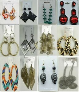 SU-96 Wholesale Jewelry lot 12 pairs Mixed Style Winter Fashion Earrings