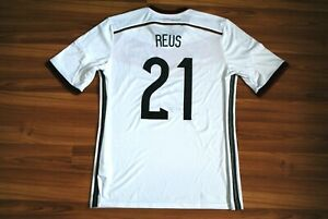 GERMANY NATIONAL TEAM WC 2014-15 HOME FOOTBALL SHIRT JERSEY ADIDAS TRIKOT REUS L