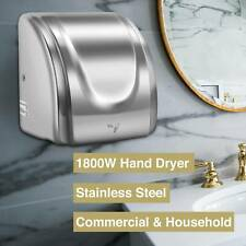 1800W Auto Hand Dryer Stainless Steel Commercial and Household Use