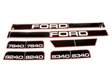 BONNET DECAL SET FITS FORD 7840 8240 8340 TRACTORS HIGH QUALITY
