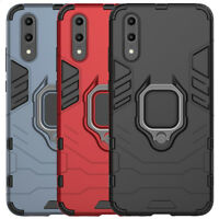 For Huawei P30 P20 Pro Mate 20 Lite Case Rugged Armor Ring Stand Holder Cover