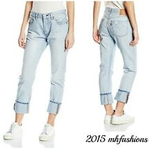 "LEVI'S WOMEN'S 501 ORIGINAL FIT BOYFRIEND JEAN "" LIGHT SKY DELTA "" SIZE 32 X 32"