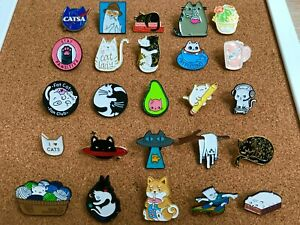 40 Style Cute Enamel Lapel Pin Set,Mini Brooch Pin Badges Cover Up Buttons for Women Shirts,Dresses,Cardigan Collar Safety Pins,Cuff Links,Clothing Bags Accessories Supplies DIY Crafts