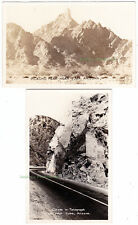 2 - YUMA Arizona - c1940 Photo POSTCARDS Picacho Peak TELEGRAPH PARK CUT