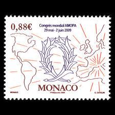Monaco 2009 - Membres de l'Ordre des Palmes Academiques AMOPA Map - Sc 2533 MNH