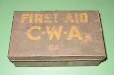 Vintage 1930s State of Georgia Civil Works Administraion CWA Davis First Aid Kit