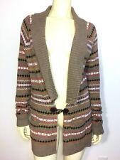 Tommy Hilfiger Tan Fair Isle Button Cardigan Sweater Brown Size Medium