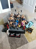 Jakks Pacific, Marvel WWF WWE WCW Wrestling Figures And Ring The Rock/Stone Cold