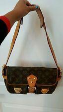 Authentic LOUIS VUITTON Monogram Canvas Shoulder Bag Hudson PM